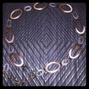 Woman's Metal Waist Belt